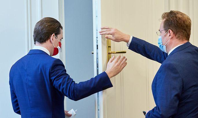 Die Wirtschafts- und Korruptionsstaatsanwaltschaft ermittelt gegen Bundeskanzler Sebastian Kurz (l.) und seinen engsten Mitarbeitern.