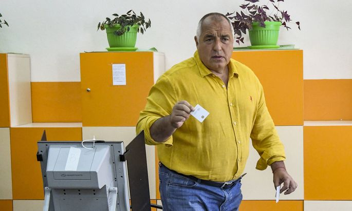 Bulgarians Vote For New Parliament Former Bulgarian Prime Minister and leader of centre-right GERB party Boyko Borisov c