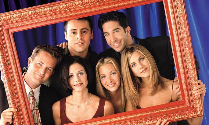 Film Still from Friends Matthew Perry, Courteney Cox Arquette, Matt LeBlanc, Lisa Kudrow, Matt LeBlanc, Lisa Kudrow, Da