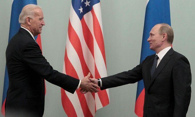 Treffen zwischen Joe Biden und Wladimir Putin im Jahr 2011.