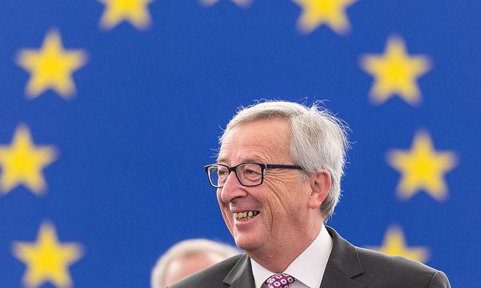 Hat gut Lachen: Jean-Claude Juncker überstand das Misstrauensvotum
