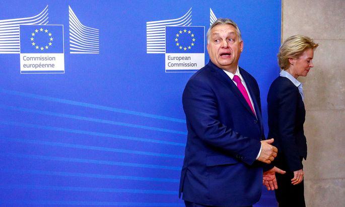 Viktor Orban und Ursula von der Leyen
