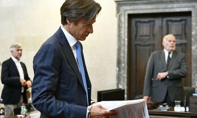 Karl Heinz Grasser am Mittwoch vor Verhandlungsstart
