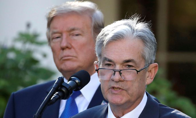 US-Präsident Donald Trump und sein Notenbank-Chef Jerome Powell