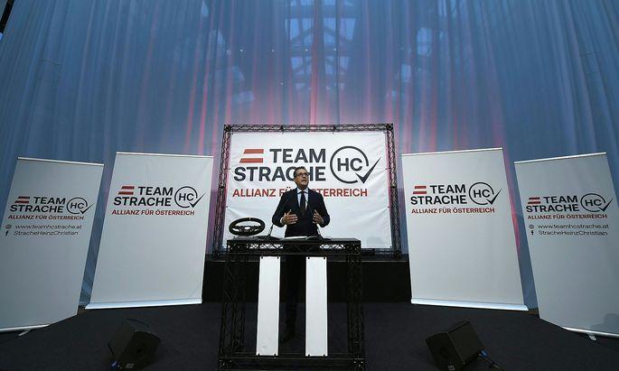Heinz-Christian Strache stellt seine neue Partei vor.
