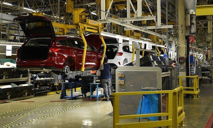 Das Fordwerk in Saarlouis am Freitag 18 1 2019 Ford produziert in Saarlouis den Ford Focus und d