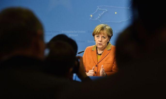 Angela Merkel nach dem EU-Gipfel in Brüssel.