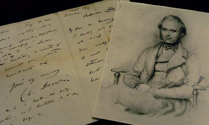 Illustration zu Charles Darwin