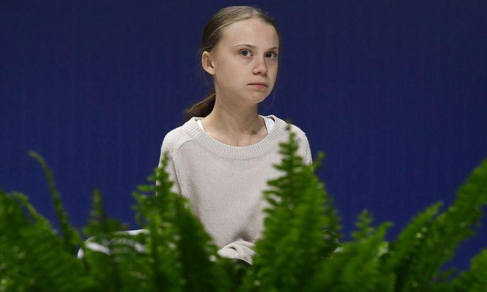 Greta Thunberg auf der Klimakonferenz in Madrid. Die 16-jährige Schwedin steht dem Verhandlungsmarathon in Sachen Klima skeptisch gegenüber. Sie fordert mehr Taten und weniger Worte.