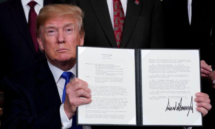 Donald Trump hat mit seinen Strafzöllen einen Handelskrieg angezettelt