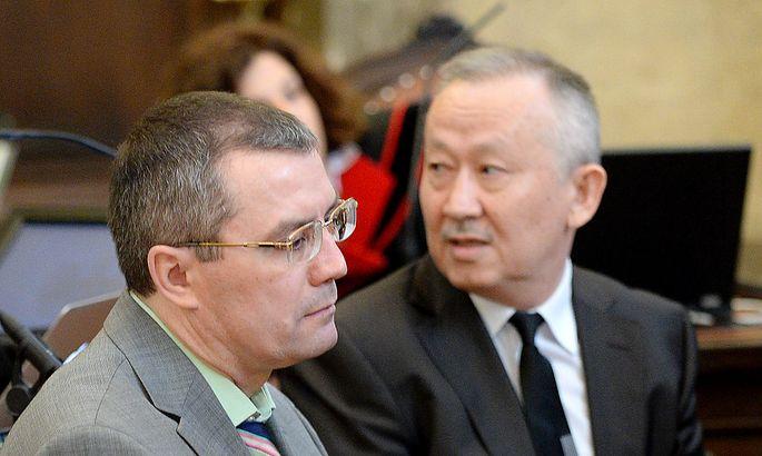 Vadim Koshlyak (l.) und Alnur Mussayew während des erstinstanzlichen Verfahrens