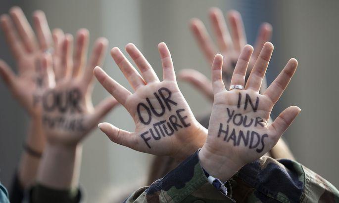 Archivbild: Klimaproteste von Schülern in Brüssel
