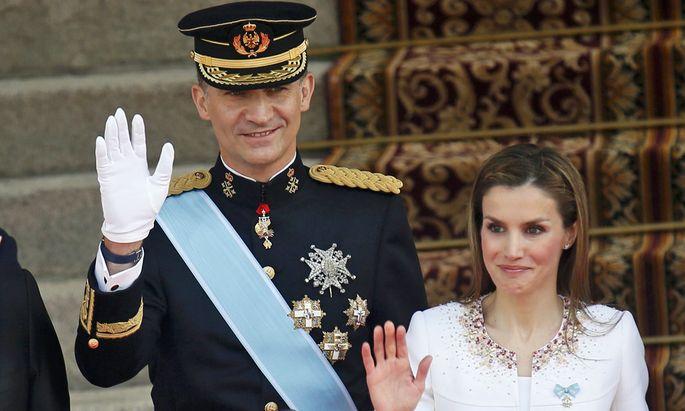 König Felipe VI. und seine Frau Letizia Ortiz