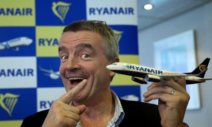 Ryanair-Chef Michael O'Leary würde auch Stehplätze verkaufen