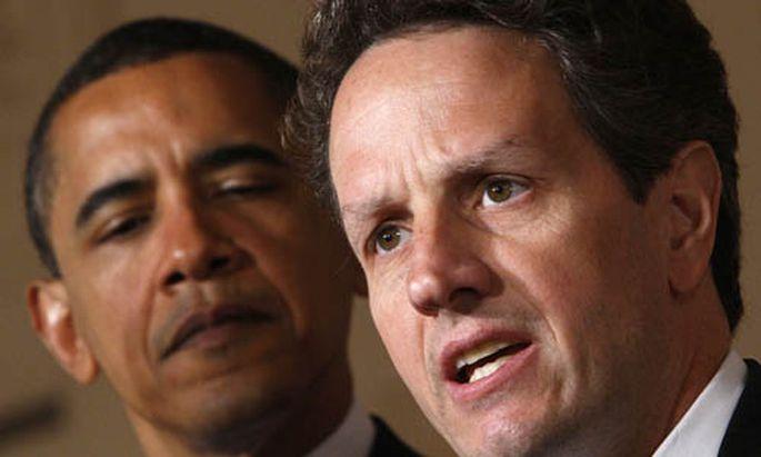 Finanzminister Geithner und Präsident Obama