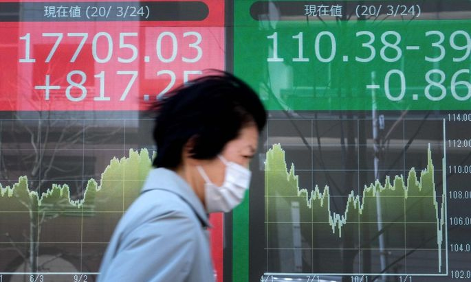 Die Börse in Tokio zog am Dienstag kräftig an.