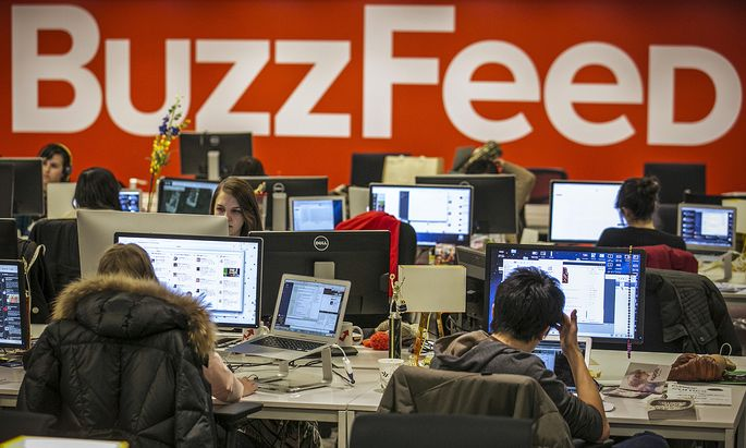 Buzzfeed employees work at the company´s headquarters in New York