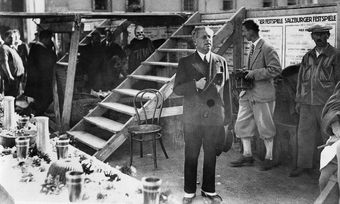 """Proben zum """"Jedermann"""" 1931: Max Reinhardt galt als großer Schweiger und akribischer Zuhörer. Er hatte Charisma. Er liebte seine Schauspieler und sie ihn."""