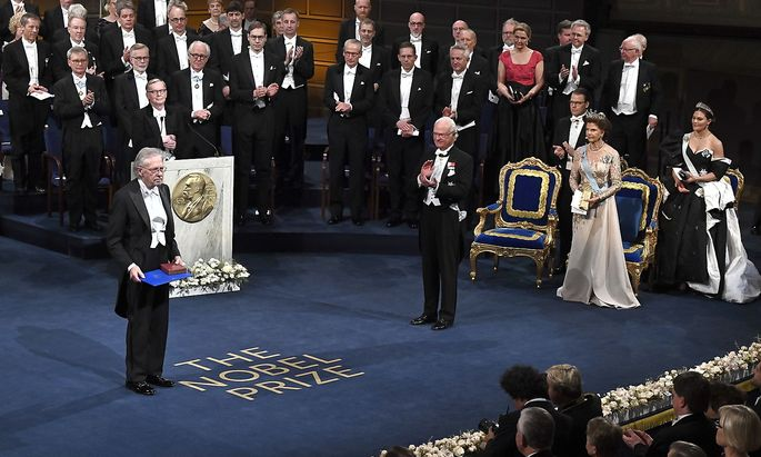 Peter Handke bei der Nobelpreisverleihung in Stockholm.