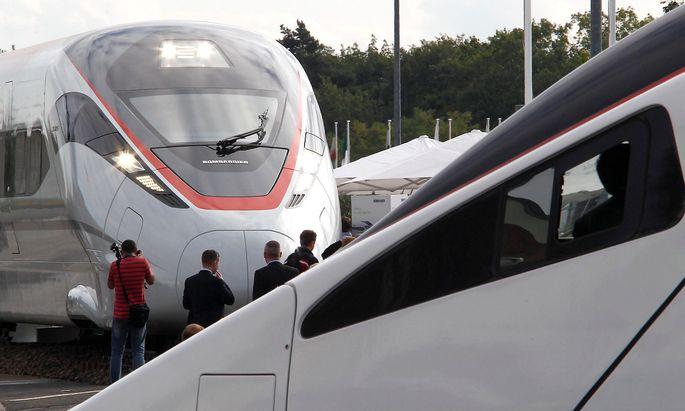 Vor allem im Hochgeschwindigkeitssektor marktführend: Bombardier mit dem Zefiro 380 und Alstom mit seinem Modell der vierten Generation.
