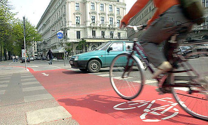 Radweg am Ring, Radfahren, Wien Foto: Clemens Fabry