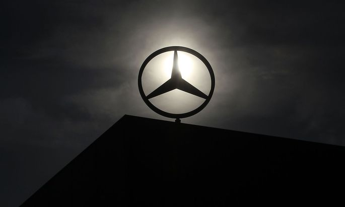 File photo of logo of Mercedes Benz is seen on top of a car factory in central Hungarian town of Kecskemet