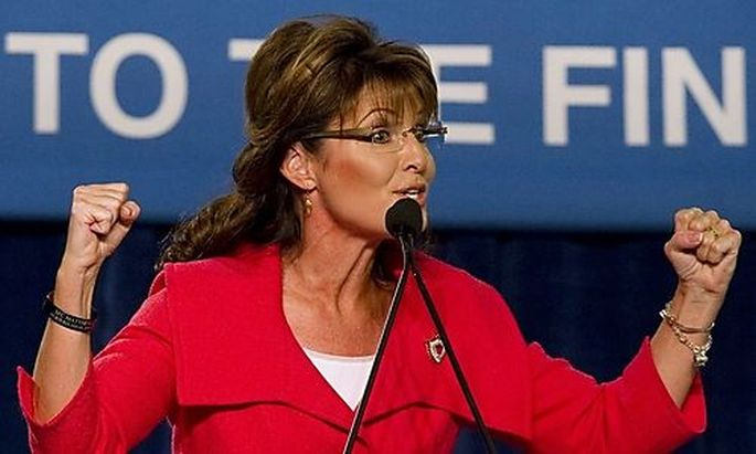 Former Alaska governor Sarah Palin speaks during the Republican 2010 Victory Fundraising Rally in Orl