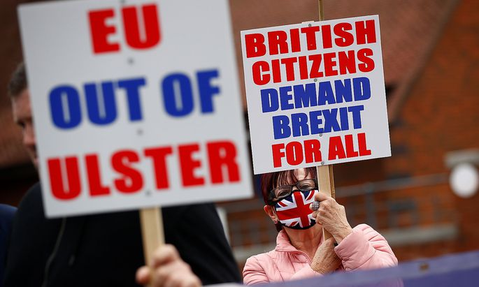 Demonstration in Nordirland: Die Diskussion rund um Populismus wurde unter anderem durch den Brexit angeheizt.