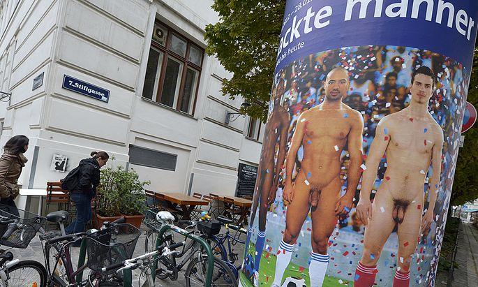 Protest gegen Penis Leopold