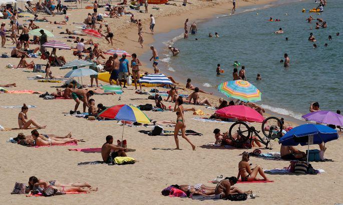 Strand in Barcelona.