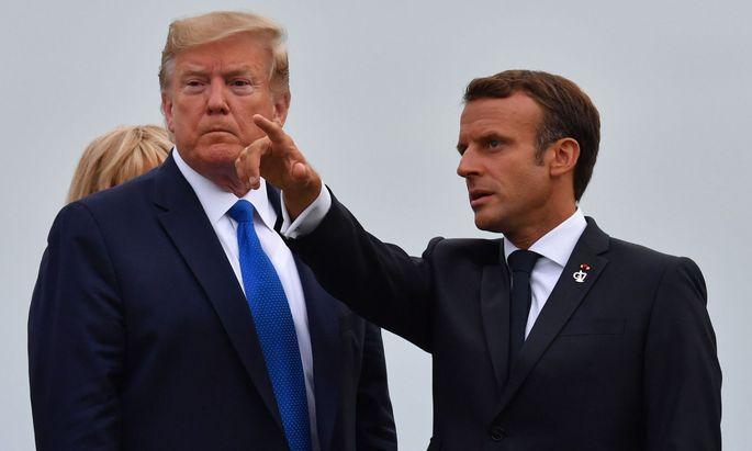 Frankreichs Präsident Emmanuel Macron will schnelle Hilfe für die Brandgebiete