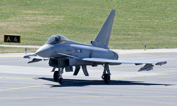 Ein Eurofighter des österreichischen Bundesheeres