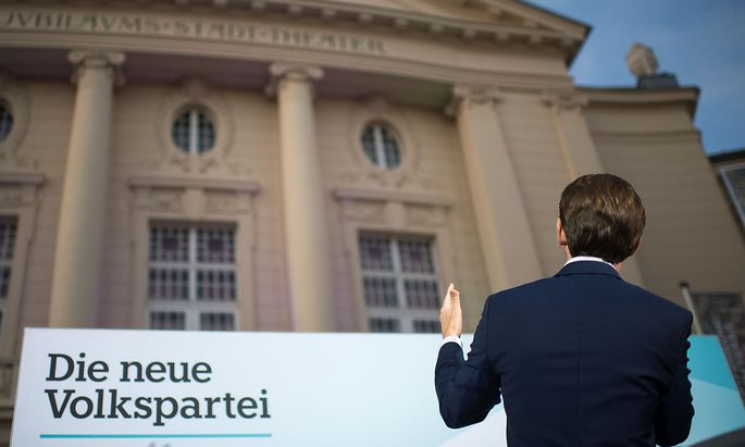 Sebastian Kurz 2019 bei einem Wahlkampfauftritt in Baden bei Wien.