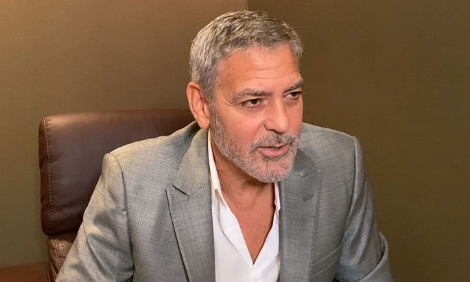 George Clooney im Interview.
