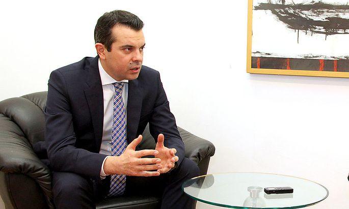 Mazedoniens Außenminister Nikola Poposki