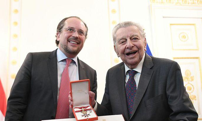 Alexander Schallenberg und Hugo Portisch
