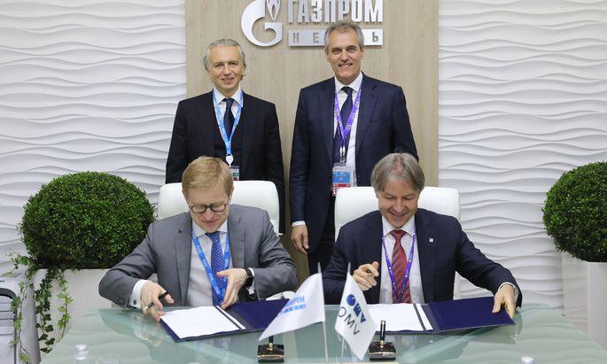 Gazprom Neft staerkt die Zusammenarbeit mit OMV bei der Entwicklung von Projekten im Iran