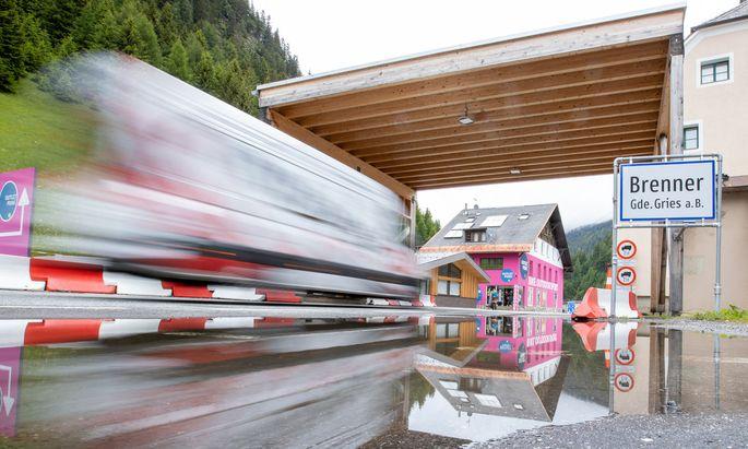 Grenzübergang Brenner.