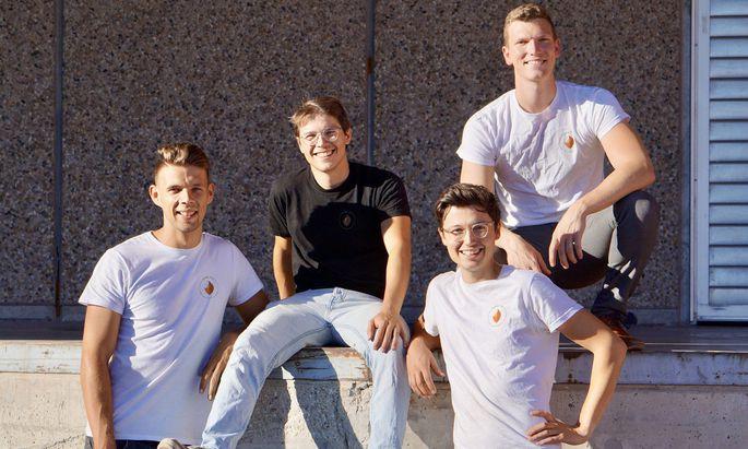 Kernteam. Fabian Wagesreither, Luca Fichtinger, Sebastian Jeschko, Michael Beitl (von links) haben das Unternehmen Kern Tec gegründet.