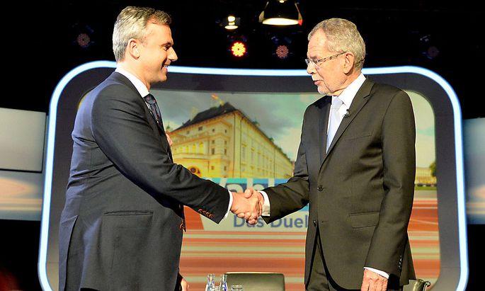 BP-WAHL: TV-KONFRONTATION MIT DEN STICHWAHL-KANDIDATEN - HOFER / VAN DER BELLEN