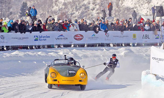 Skifahren mit PS. Ein Höhepunkt in Zell am See ist das Skijöring. Heuer soll sogar Marcel Hirscher an den Start gehen.