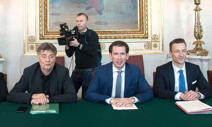 Erste Regierungssitzung unter Bundeskanzler Kurz und Vizekanzler Kogler.