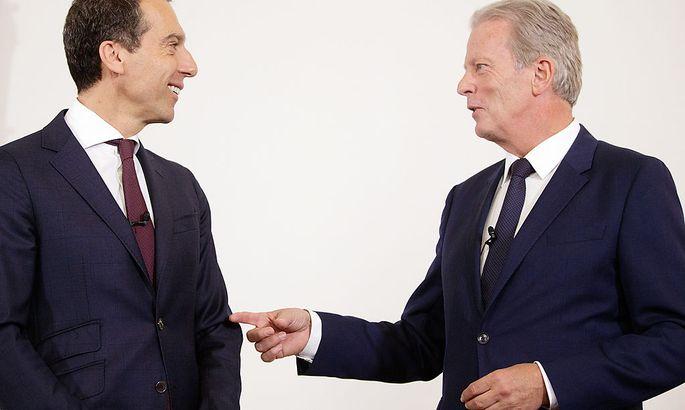 Ein Bild aus Zeiten, in denen man als Regierungsspitze noch gemeinsam nach dem Ministerrat vor die Presse trat: Kanzler Kern und Vizekanzler Mitterlehner.