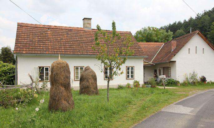 Blick vom Garten zum Haus.