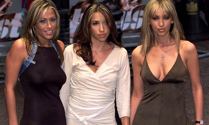 Three members of the All Saints pop band (L-R) Nicole Appleton, Melanie Blatt and Natalie Appleton a..