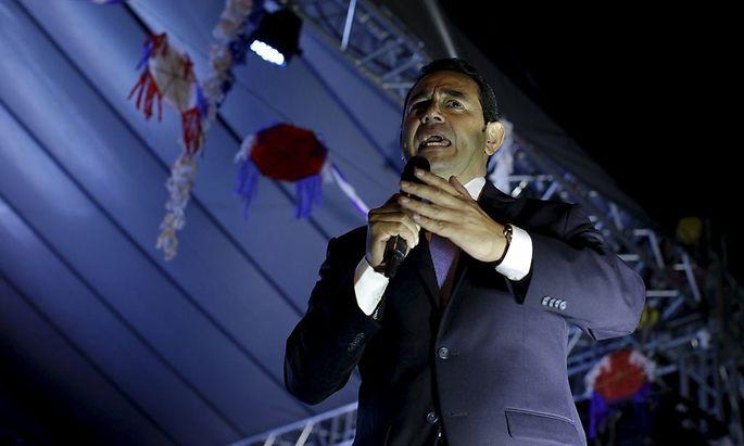 Wofür der neu gewählte Präsident Jimmy Morales eigentlich steht, wird sich erst herausstellen.