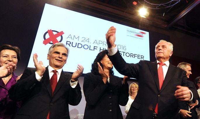 BP-WAHL: WAHLKAMPFAUFTAKT SPÖ: RISSER/HUNDSTORFER/FAYMANN