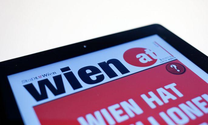 """Die """"Bürgerinformation"""" beinhaltet diverse Publikationen, etwa die Zeitung wien.at, die gratis an jeden Wiener Haushalt (im Bild das E-Paper)."""