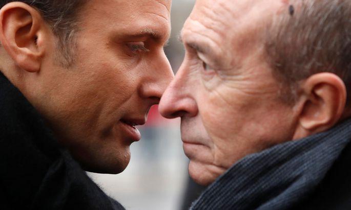 Emmanuel Macron und Gérard Collomb.