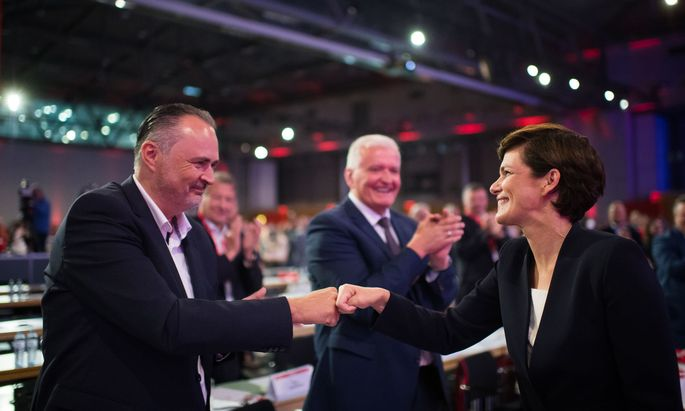 Burgenlands Landeshauptmann Hans-Peter Doskozil und Parteivorsitzende Pamela Rendi-Wagner (SPÖ)